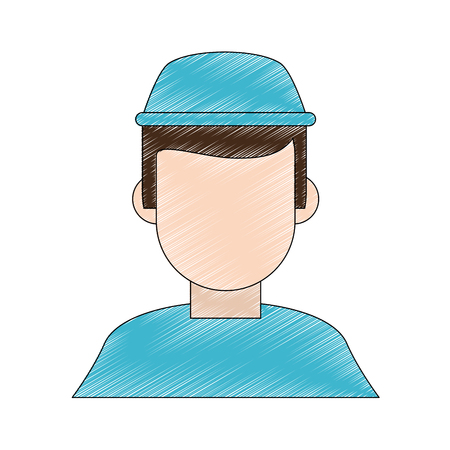 Dentist faceless cartoon icon vector illustration graphic design Illustration