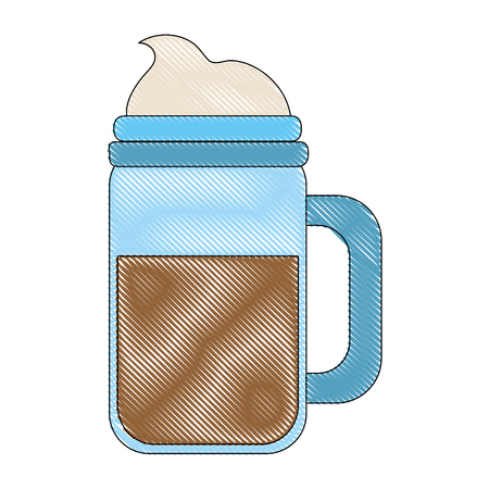 Cold coffee cup with chantilly icon vector illustration graphic design Banco de Imagens - 94449067