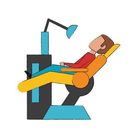 Chair dental isolated icon vector illustration graphic design