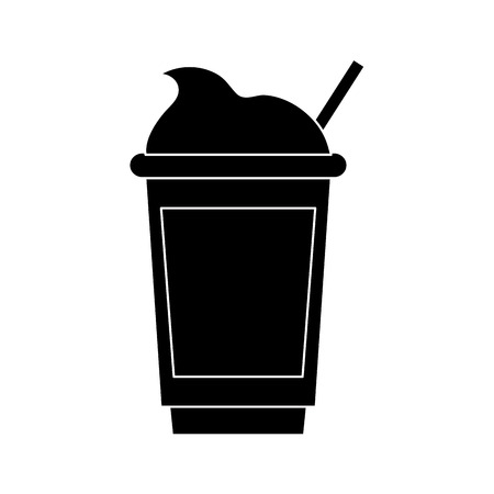 Cold coffee cup icon vector illustration graphic design Banco de Imagens - 94454687