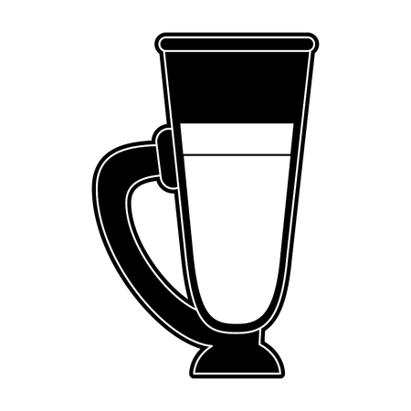 Cold coffee cup icon vector illustration graphic design Ilustração