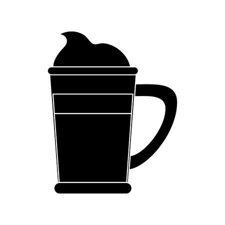 Cold coffee cup with chantilly icon vector illustration graphic design