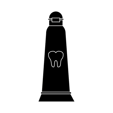 Toothpaste dental product icon vector illustration graphic design