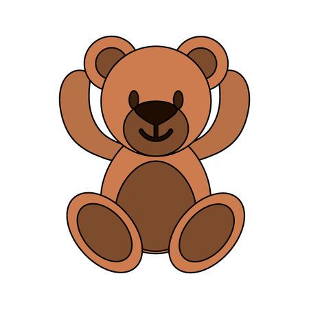 Teddy fluffy bear icon vector illustration graphic design