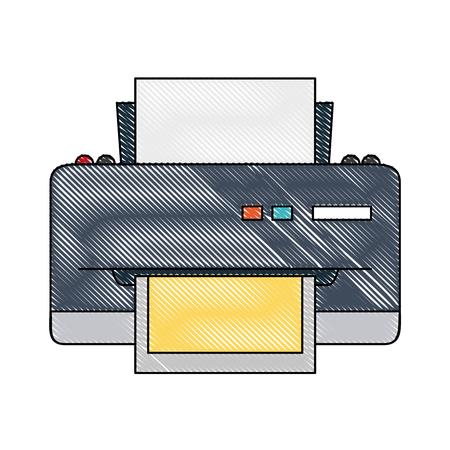Printer device isolated icon vector illustration graphic design Illustration