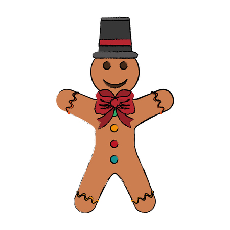 Gingerbread cookie isolated icon vector illustration graphic design