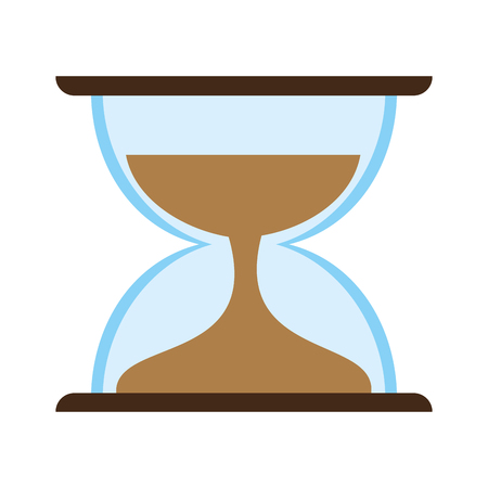 Hourglass time symbol icon vector illustration graphic design
