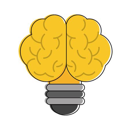 Bulb brain symbol icon vector illustration graphic design