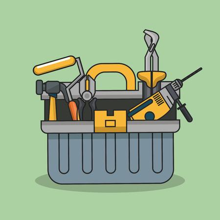 Construction tools equipment icon vector illustration graphic design