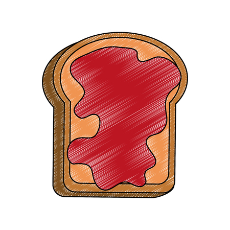 Toast with jam icon vector illustration graphic design Stock Illustratie