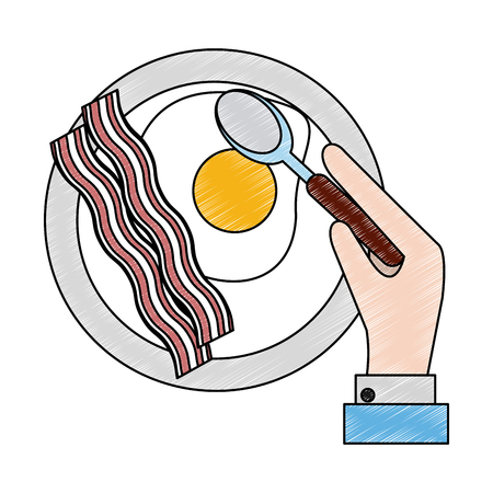 American breakfast food icon. Vector illustration graphic design. Illustration