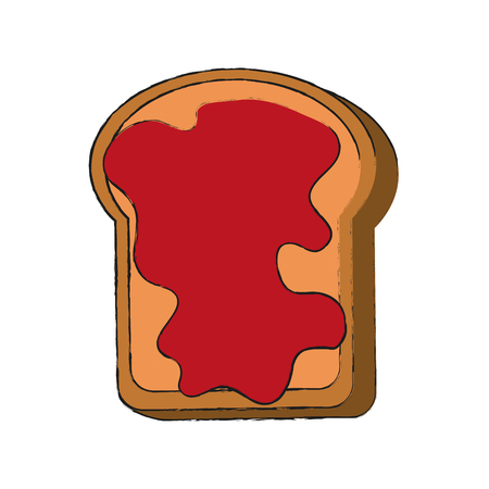 Toast with jam icon vector illustration graphic design Ilustracja