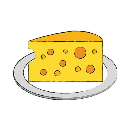 Cheese dairy isolated icon vector illustration graphic design