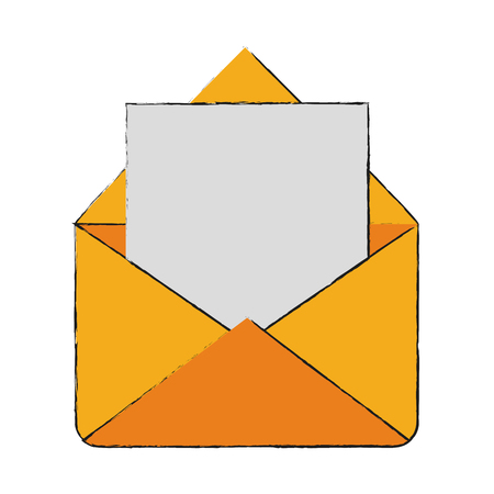 envelope mail open icon vector illustration graphic design
