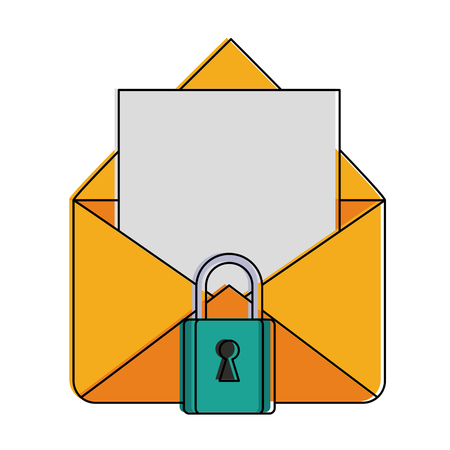 Secure email symbol icon vector illustration graphic design Illustration