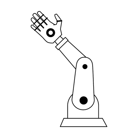 Robot arm technology icon vector illustration graphic design Illustration