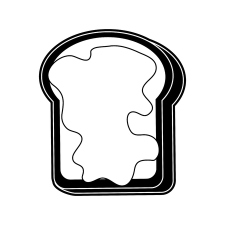 Toast with jam icon vector illustration graphic design Illusztráció