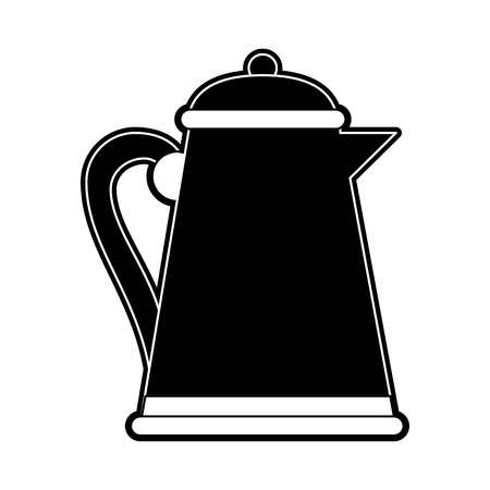 Porcelain teapot isolated icon vector illustration graphic design
