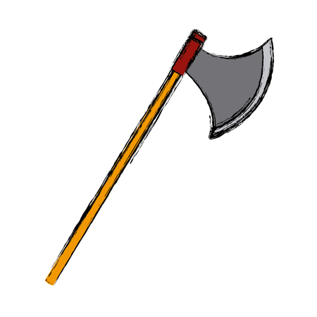 Ax medieval weapon icon vector illustration graphic design