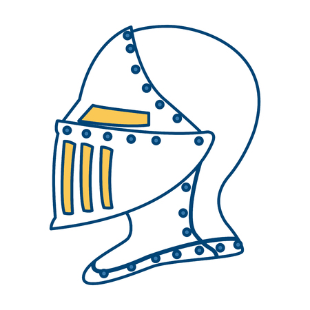 Medieval warrior helmet icon vector illustration graphic design