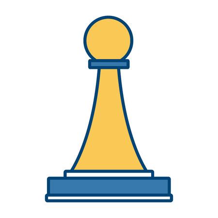Chess piece symbol icon vector illustration graphic design