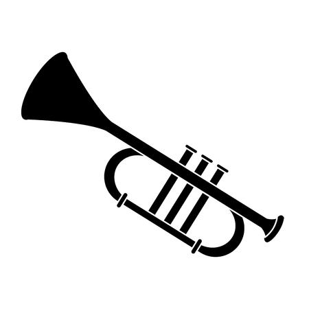 Trumpet music instrument icon vector illustration graphic design
