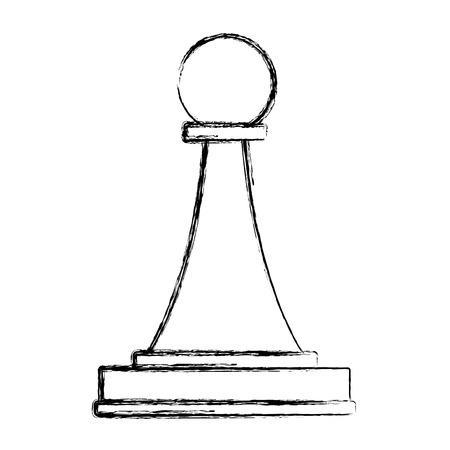 Chess piece symbol icon vector illustration graphic design Illustration