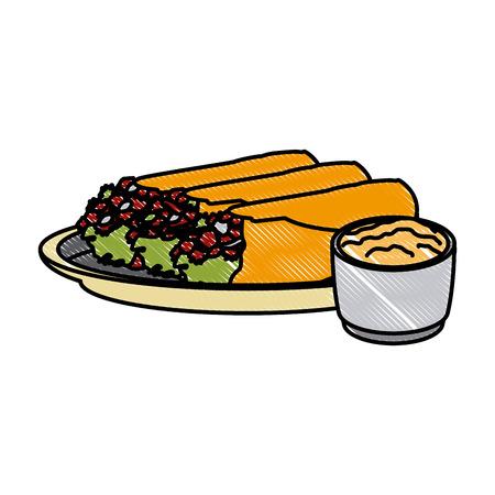 Mexican burritos food icon vector illustration graphic design