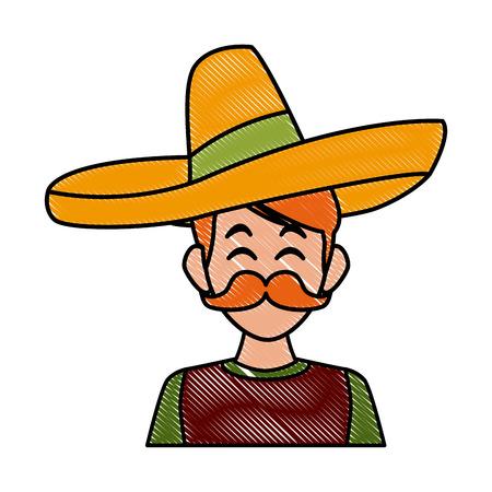 Mexican burrito food icon vector illustration graphic design