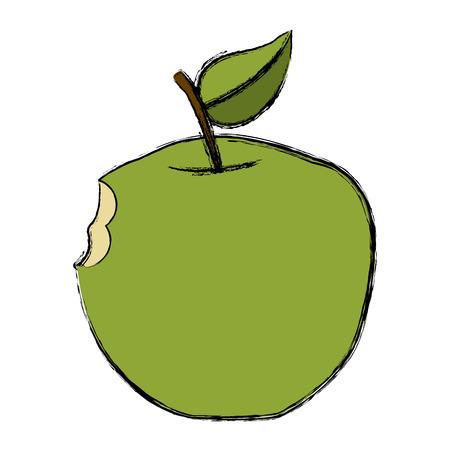 Apple fruit symbol icon vector illustration graphic design