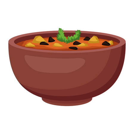 Haricots mexicains bol icône vector illustration graphisme