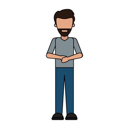 Man avatar cartoon icon vector illustration graphic design.
