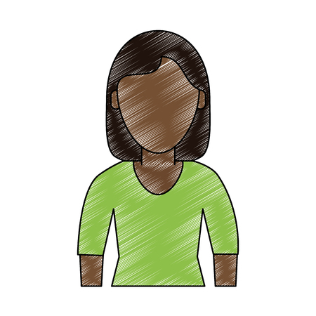 Executive woman avatar cartoon icon vector illustration graphic design.