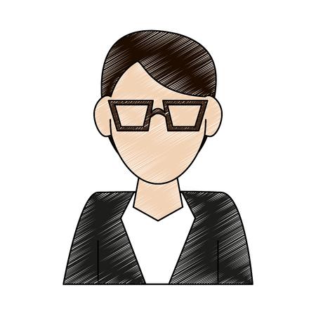 Man avatar cartoon icon vector illustration graphic design