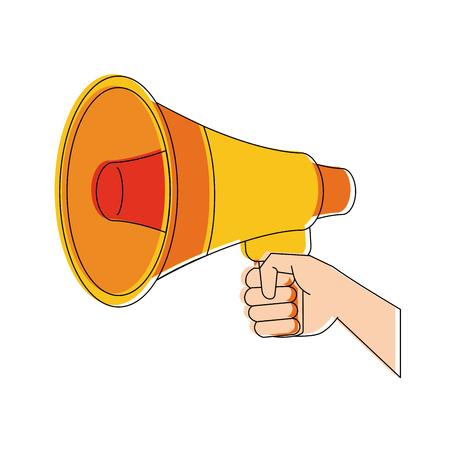 Hand with bullhorn icon vector illustration graphic design Иллюстрация