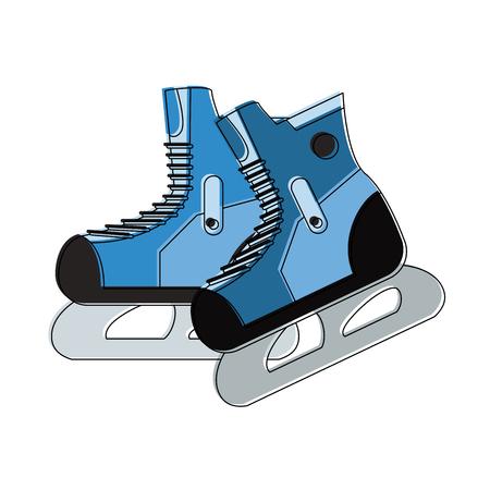 Ice skates isolated icon vector illustration graphic design