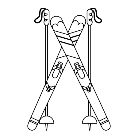 Snowboard met vector de illustratie grafisch ontwerp van het stokkenpictogram