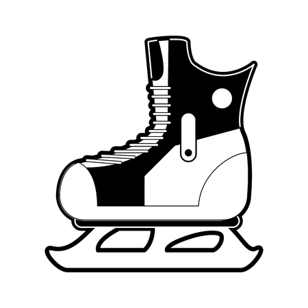 Ice skate isolated icon vector illustration graphic design