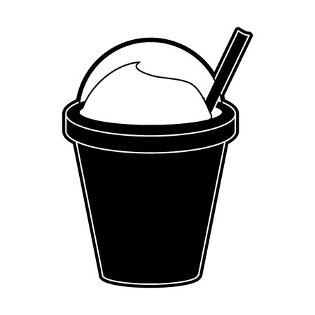 Frappe coffee cup icon vector illustration graphic design