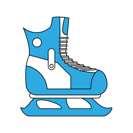 Ice skate isolated icon illustration graphic design