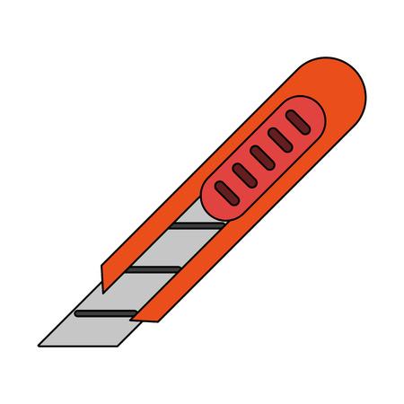 Paper scalpel tool icon vector illustration graphic design Illustration