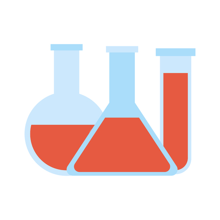 Lab flask isolated icon vector illustration graphic design