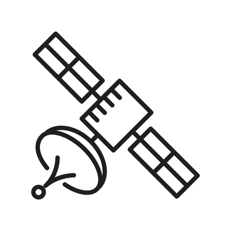 Telecommunication satellite symbol