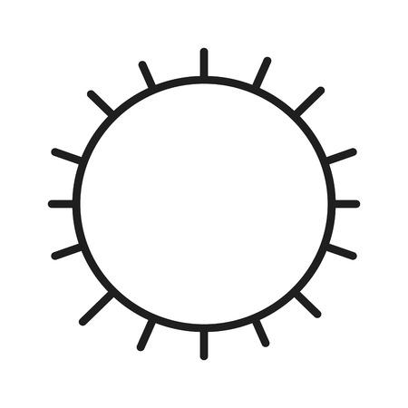 Sun isolated symbol Ilustração