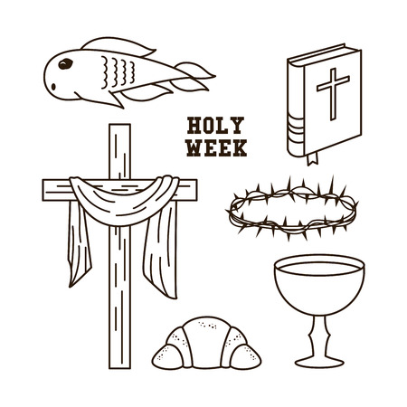 Holy week icons icon vector illustration graphic design