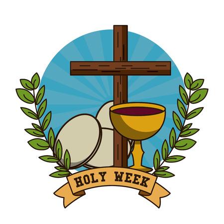 Heilige Woche katholischen Tradition Symbol Vektor-Illustration Grafik-Design Standard-Bild - 95302554