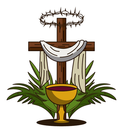 Holy week catholic tradition icon vector illustration graphic design Reklamní fotografie - 95302557