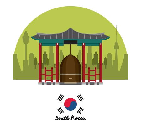 South korea culture icon vector illustration graphic design Çizim