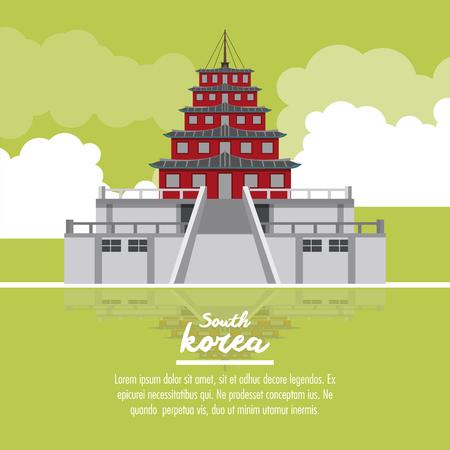 South korea infographic icon vector illustration graphic design