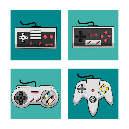 Gamepads technology icons icon vector illustration graphic design Illustration
